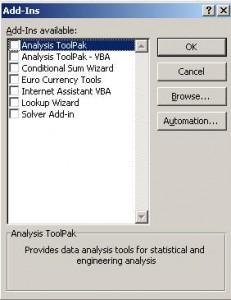 Complementos en Excel